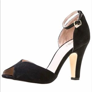 Chelsea Crew Black Lola Ankle Strap D'Orsay Pump 8